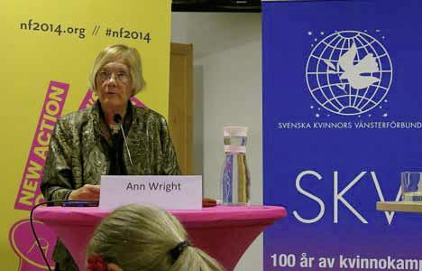 Ann Wright på Nordiskt Forum i Malmö