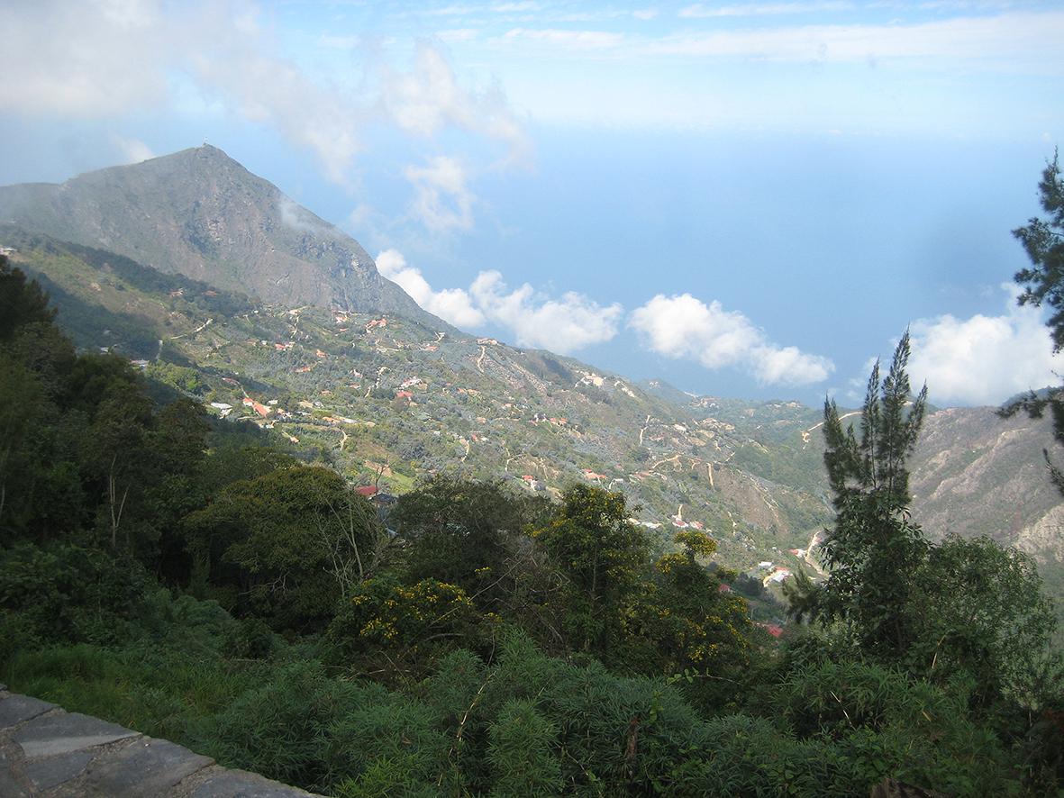 Uppe i bergen ovanför Caracas